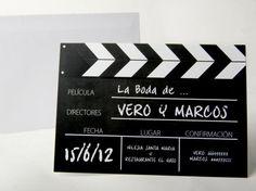 Invitación de boda - CLAQUETA (MIL18)
