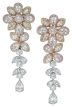The Avakian floral drop earrings worn by Paris Hilton to the after-party of Sofia Coppola's latest movie 'The Bling Ring.' #Cannes2013