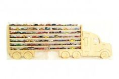 Wooden Truck Hanging Storage Shelf For Hot Wheels And