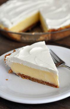 Lemon Cream Pie ~ Utter summer desert perfection. So refreshing and very easy.