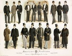 edwardian america | American men's fashion 1889-1890 | The 2014 Victorian and Edwardian S ...