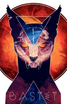 Bastet - Cat Goddess on Behance