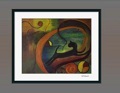 Abstract Art print 8x10 of original surreal by KneeDeepOriginals, $30.00