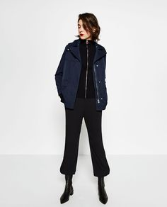 Image 1 of TECHNICAL FABRIC JACKET from Zara