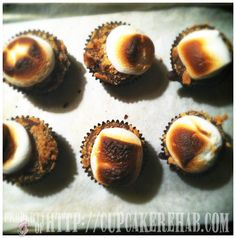 S'mores cupcakes.    Cupcake Rehab - cupcakerehab.com: Beating batter & people with whisks since 2007!