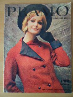 PRAKTISCHE MODE PRAMO 8/1965 + + Schnittmusterbogen DDR-Mode-Magazin