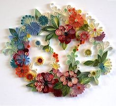 Paper quilling. How beautiful is this?? I have to learn how to do this kind of thing.  (Yulia Brodskaya)