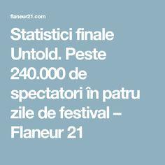 Statistici finale Untold. Peste 240.000 de spectatori în patru zile de festival – Flaneur 21