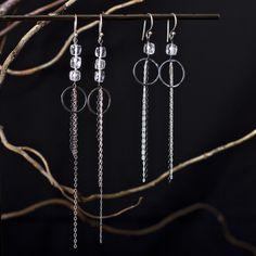 Romance Noir Chains & Crystal Earrings