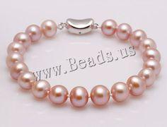 Pulseras de Perlas Freshwater,  http://www.beads.us/es/producto/Pulseras-de-Perlas-Freshwater_p105925.html?Utm_rid=163955