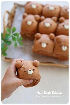 * くまさんのちぎりパン * の画像|Mai's スマイル キッチン Japanese Sweets, Japanese Bread, Animal Shaped Foods, Kawaii Cooking, Cute Baking, Cute Food Art, Bread Shaping, Bread Art, Cute Buns