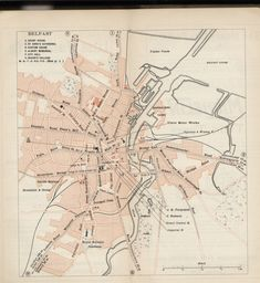 Map of Belfast, 1911 - Michelin Guide to the British Isles