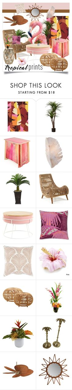 """Tropical Prints"" by tes-gray ❤ liked on Polyvore featuring interior, interiors, interior design, home, home decor, interior decorating, Linon, Varaluz, Laura Ashley and Williams-Sonoma"