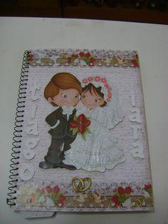 Caderno de mensagens para casamento