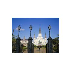 Jackson Square, New Orleans, Louisiana, USA Photographic Wall Art... ($40) ❤ liked on Polyvore featuring home, home decor, wall art, artists, new orleans wall art, photography posters, new orleans home decor, photographic wall art and photography wall art