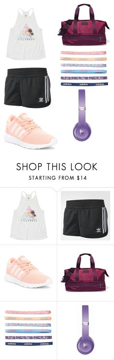 """Gym Time"" by shimmy-sham ❤ liked on Polyvore featuring Billabong, adidas and Beats by Dr. Dre"