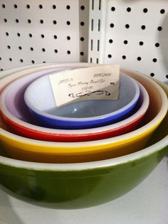 Another rare primary Pyrex in PA by Jen Isawesome, via Flickr