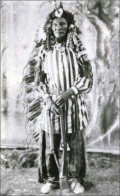 My grandfather Chief CrazyBear before a ghost dance. The white man said that the ghost dance was evil and banned any lakota from doing it...or be killed!! Dumb ass's!!!!!!!