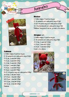 Con mis Manos Mañosas: agosto 2014 Crochet Bunny Pattern, Crochet Doily Patterns, Crochet Doilies, Crochet Slippers, Crochet Toys, Pen Toppers, Knitted Animals, Tapestry Weaving, Crochet For Beginners