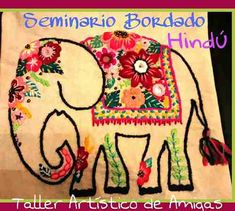 Modern Embroidery, Ribbon Embroidery, Embroidery Stitches, Embroidery Patterns, Tela Hindu, Fidget Blankets, Elephant Design, Sewing Pillows, Mexican Art