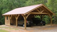 Plans of Woodworking Diy Projects - 20 Stylish DIY Carport Plans That Will Protect Your Car from the Elements Get A Lifetime Of Project Ideas & Inspiration! Plan Carport, Carport Sheds, Plan Garage, Carport Garage, Pergola Carport, Barns Sheds, Pole Barns, Diy Pole Barn, Garage Ideas