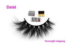 wholesale Free shipping dalat thick half 3d mink fur lashes 100% real dense 3d mink false lash faux short style strip eyelashes