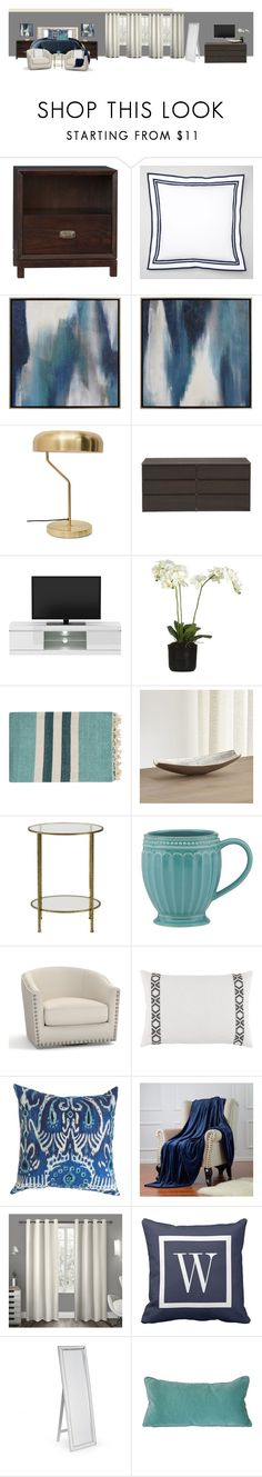 """""""MBed"""" by megan-rohr on Polyvore featuring interior, interiors, interior design, home, home decor, interior decorating, PBteen, Bernhardt, Matouk and Holly's House"""