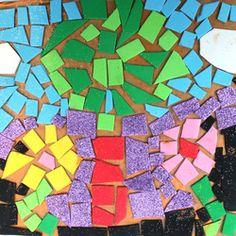 Foam mosaics for kids - the craft train