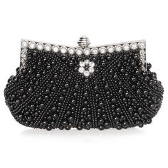 BMC Womens Pink Champagne Faux Pearl Cascading Bead Rhinestone Encrusted Evening Clutch Cocktail Party Fashion Purse: Amazon.co.uk: Clothing