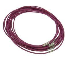Mode Halskettenschnur, Kuhhaut, Fuchsia, frei von Nickel, Blei & Kadmium http://www.perlinshop.com/Produkt/Fashion-Necklace-Cord_p71142.html