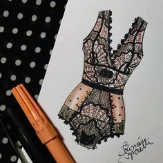 #draw #drawing #fashion #love #inlove #fashionillustration #illustration #lingerie #intimates #instagood #fashiondesign #designdemoda #moda #art #arte #croqui #handmade #lookdodia #body #bodysuit #lookoftheday #lace #vintage #fashion4arts