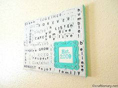 easy family stamped wall art subway art