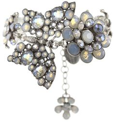 bracelet Lost Garden white shiny silver