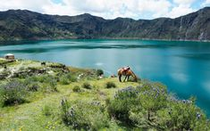 Quilotoa, Ecuador   Nature's color palette is astounding.