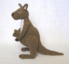 KANGAROO and  BABY PDF Crochet Pattern