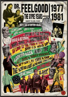 Dr. Feelgood The Gypie Years, Poster, Graphic Design, Poster for Sale, Rock n Roll, Blues, Rhythm'n Blues, Punk, Sophie Lo