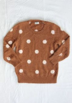 Madewell Camel Polka Dot Sweater