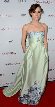 Keira Knightley in Erdem at the premier of her new movie, Anna Karina.