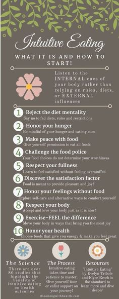 What is Intuitive Eating? Learn to listen to your gut (literally and metaphorically) Healthy Mind, Get Healthy, Healthy Habits, Health And Wellness, Health Tips, Health Fitness, Eating Disorder Recovery, Binge Eating, Intuitive Eating