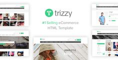 Trizzy - Multi-Purpose eCommerce Shop HTML Template Trizzy is an excellent compromise among the conflicting requirements of novelty, simplicity, elegance and function. It features a very elegant design that is perfect for your shop or business site. It is perfect for creating professional image of your company.