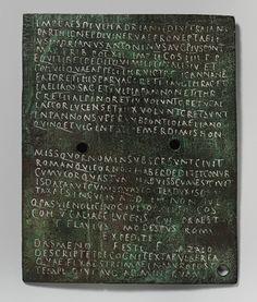 Military diploma [Roman] (23.160.32a,b)   Heilbrunn Timeline of Art History   The Metropolitan Museum of Art