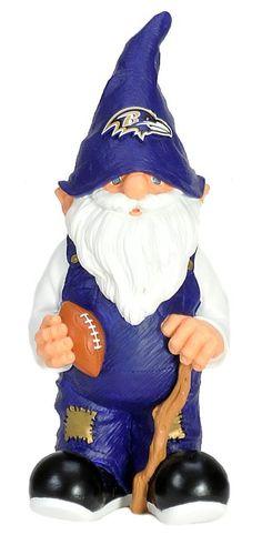 """Baltimore Ravens Garden Gnome - 11"""" Male"""