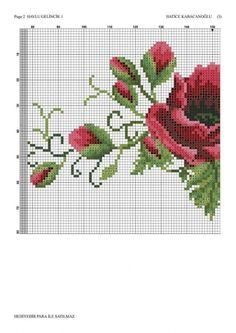 Cross Stitch Borders, Cross Stitch Rose, Cross Stitch Flowers, Cross Stitch Designs, Cross Stitch Embroidery, Cross Stitching, Cross Stitch Patterns, Crochet Lace Edging, Crochet Cross