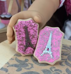 Eiffel Tower Cookie set for American Girl by DolliciousDesign