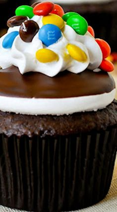 Try a delicious chocolate cupcake with M&M'S recipe.