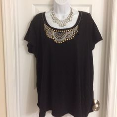 Brand new with tag, woman size 16-28W Brand new with tag, Carolyn Taylor, woman size 16-18W, black studs, made of 100% cotton, machine washable Carolyn Taylor Tops Blouses