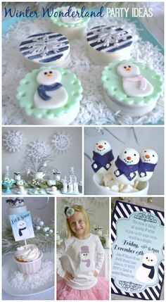 Awesome winter wonderland party ideas for your holiday party! See more party ideas at CatchMyParty.com. #winter #partyideas #chirstmas #holidays #dessert