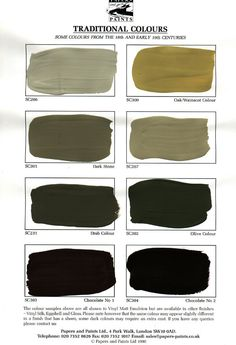 Gray Brown Black: colours in the Traditional Colour Range are a number of those in use by the house-painter between 150 and 300 years ago.