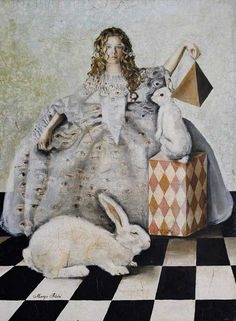 alice in wonderland Year Of The Rabbit, Rabbit Art, Rabbit Hole, Alice Rabbit, White Rabbits, Bunny Rabbits, Adventures In Wonderland, American Artists, Fairy Tales