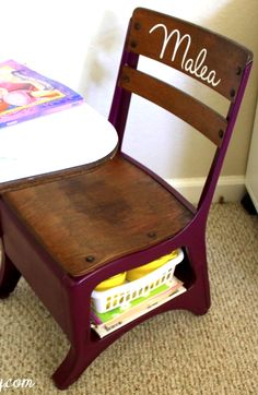 Vintage desk makeover diy...these where the old school desks from school